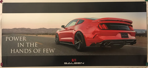 Saleen Mustang Power In The Hands Of Few 36 X 16 Poster