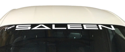Team Saleen Windshield Banner