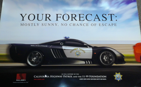 Saleen No Chance Of Escape Poster 36X24
