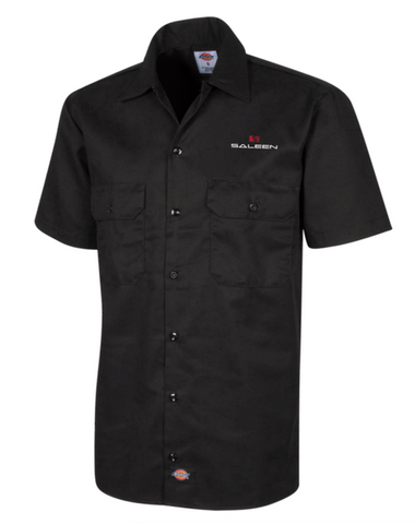 Saleen Men's Embroidered Short Sleeve Shop-Shirt by Dickies