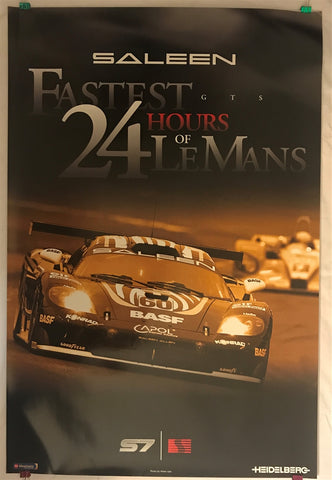 Saleen S7 Fastest GTS 24 Hours Of LeMans 36 X 24 Poster