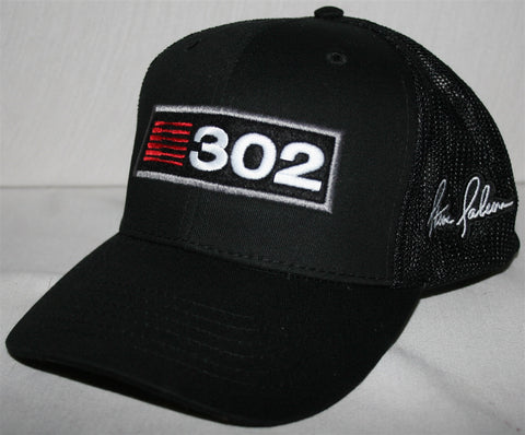 Saleen 302 Black Mesh Embroidered Hat
