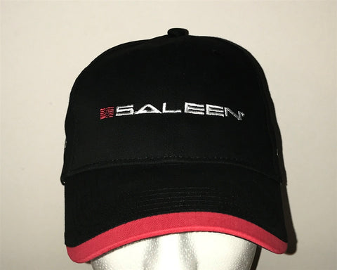 Saleen Logo Black/Red Hat