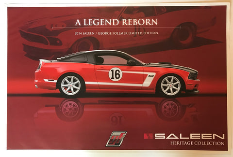 Saleen A Legend Reborn George Follmer LE 36 X 24 Poster
