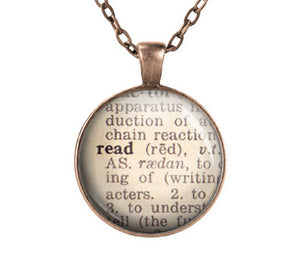 READ Dictionary Necklace