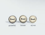 READ BOOKS Earrings (H5920) - PaperHeartDaily
