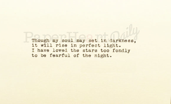 SARAH WILLIAMS Typed Quote - PaperHeartDaily
