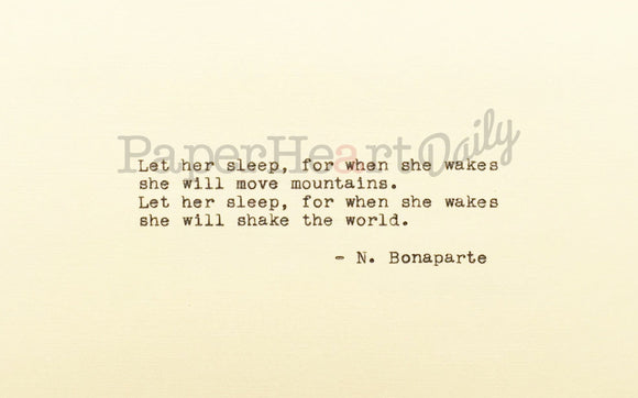 NAPOLEON BONAPARTE Typed Quote - PaperHeartDaily