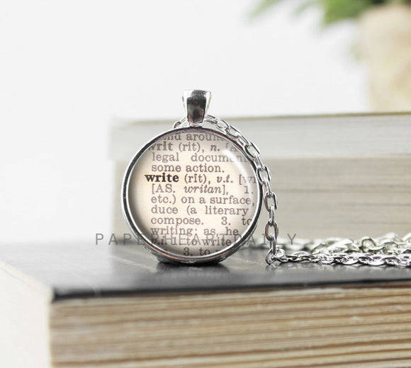 WRITE Dictionary Necklace