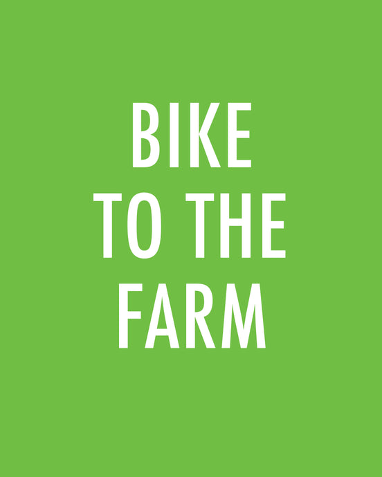 Bike To The Farm - Color Pop Print
