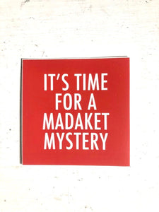 MADAKET MYSTERY sticker