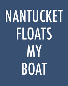 Nantucket Floats My Boat - Color Pop Print