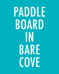 PADDLE BOARD IN BARE COVE - Color Pop Print