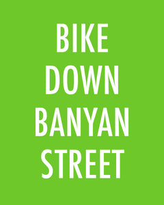 BIKE DOWN BANYAN STREET - Color Pop Print