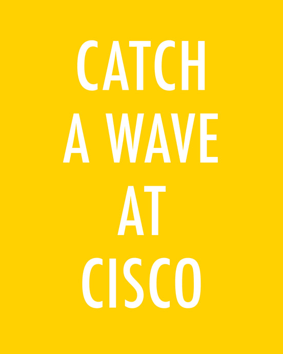 Catch A Wave At Cisco - Color Pop Print
