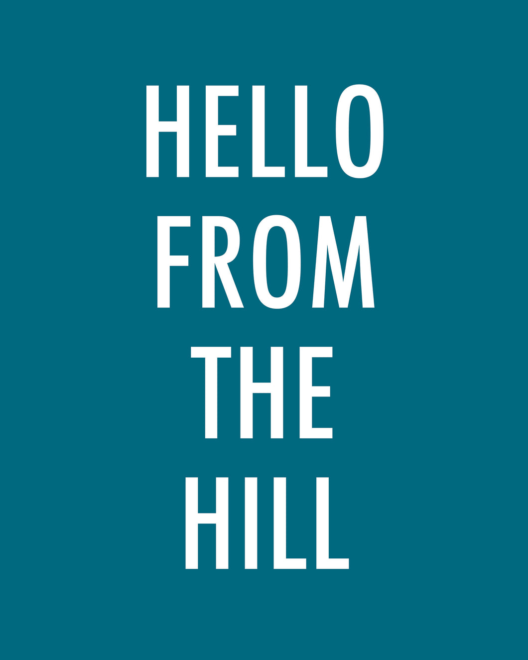 Hello From The Hill - Color Pop Print