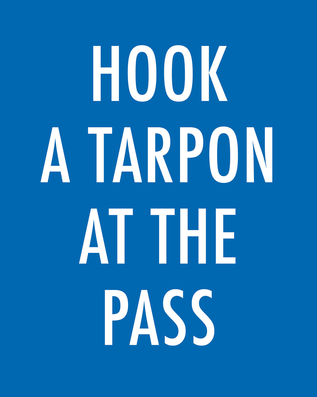 HOOK A TARPON AT THE PASS - Color Pop Print