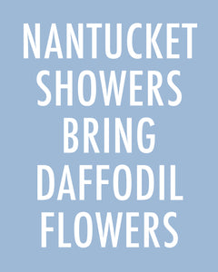 Nantucket Showers Bring Daffodil Flowers - Color Pop print