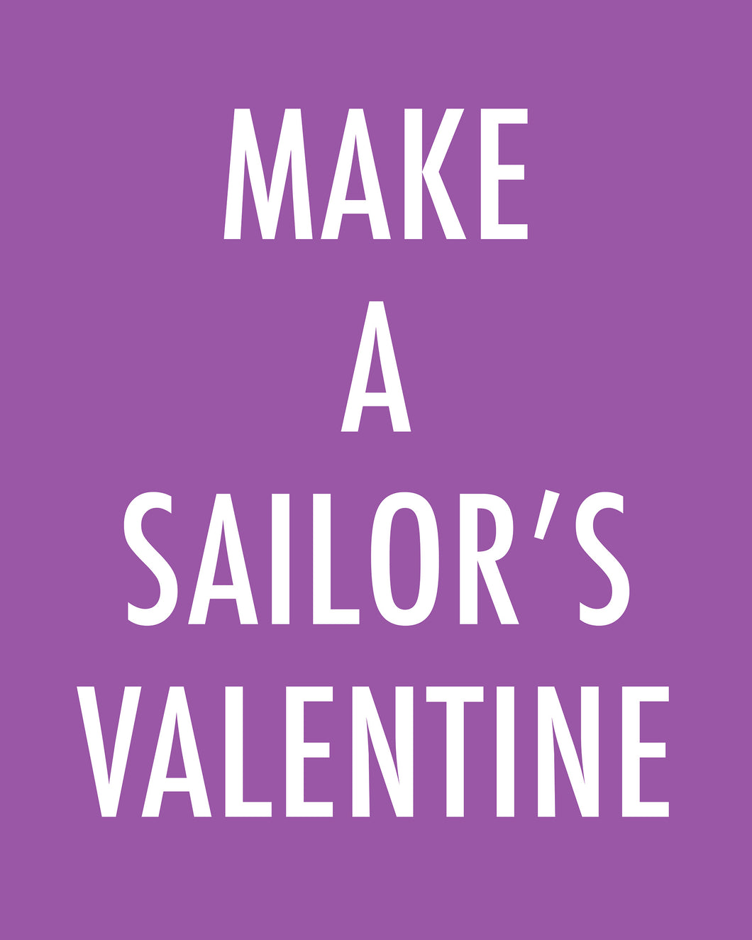 MAKE A SAILOR'S VALENTINE - Color Pop Print