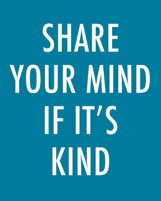 SHARE YOUR MIND - Color Pop Print