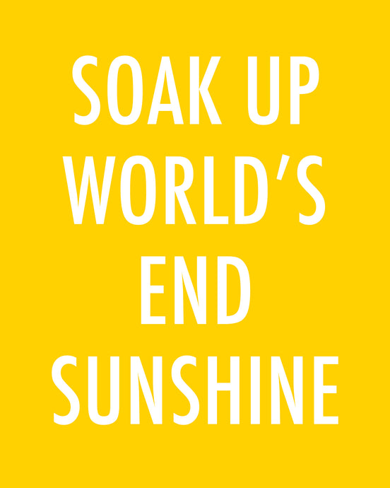 SOAK UP WORLD'S END SUNSHINE - Color Pop Print