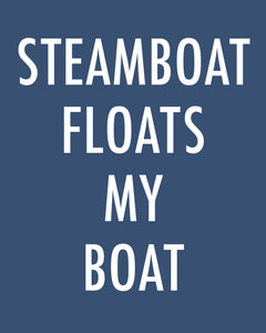 Steamboat Floats My Boat - Color Pop Print