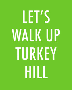 LET'S WALK UP TURKEY HILL - Color Pop Print