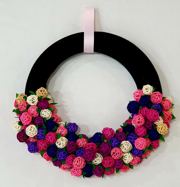 Rattan balls wreath-All-Times-Gifts