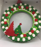 Felt Green Red White Christmas Wreath-Christmas Gifts-All-Times-Gifts