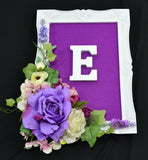 Initial Letter on a Frame Floral Design-Personalised Frames-All-Times-Gifts