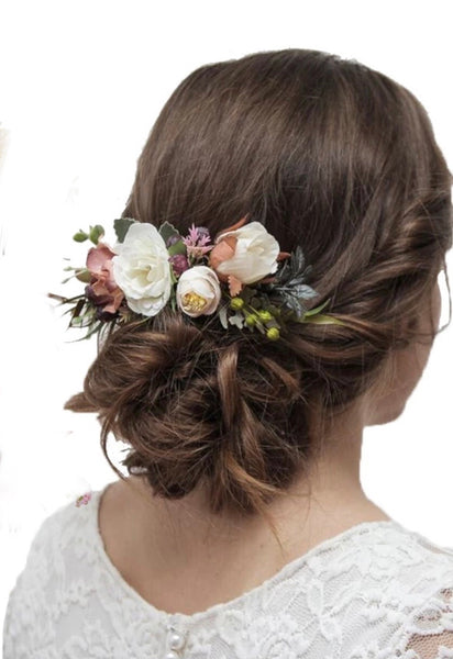 Floral hair comb-All-Times-Gifts