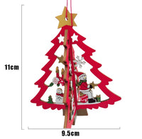 3pcs/set 3D Multicolour Wooden Christmas Ornaments-Christmas Gifts-All-Times-Gifts