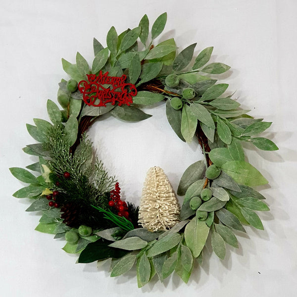 Green olive leave wreath-All-Times-Gifts