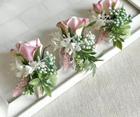 Corsage Bracelet Pink Floral with buds-Event-All-Times-Gifts