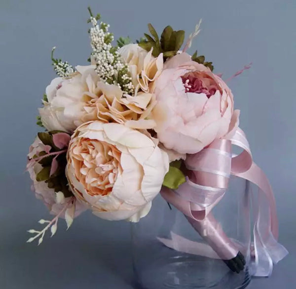 Bridal Bouquet Pink Champaign-All-Times-Gifts