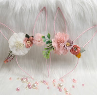 Bunny ears Floral Headband-All-Times-Gifts