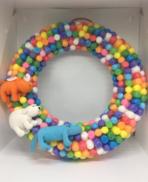 Baby Room Colourful Wreath-Personalised Wreath-All-Times-Gifts