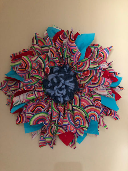 Fabric rainbow wreath-All-Times-Gifts