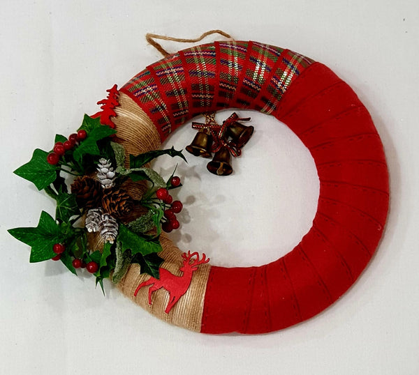 Red Christmas wreath-All-Times-Gifts