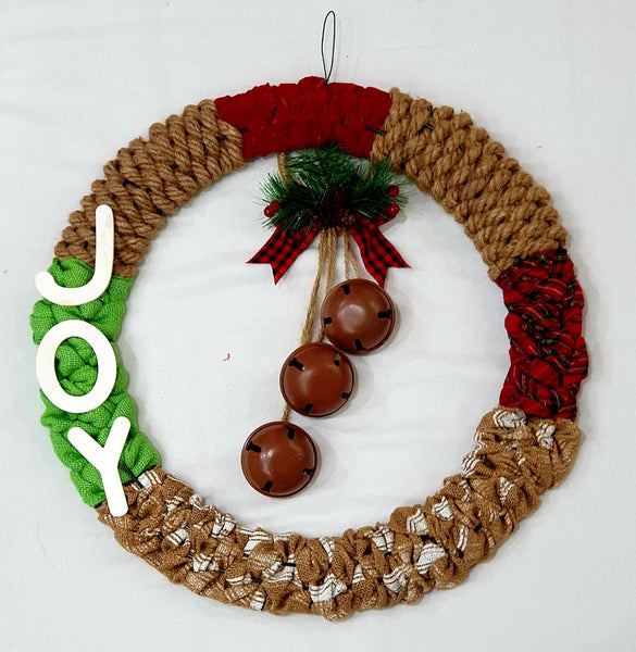 Joy weaved Christmas wreath-All-Times-Gifts
