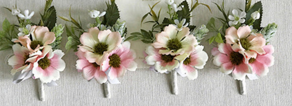 Pink Daisies Buttonhole Boutonnières-Event-All-Times-Gifts