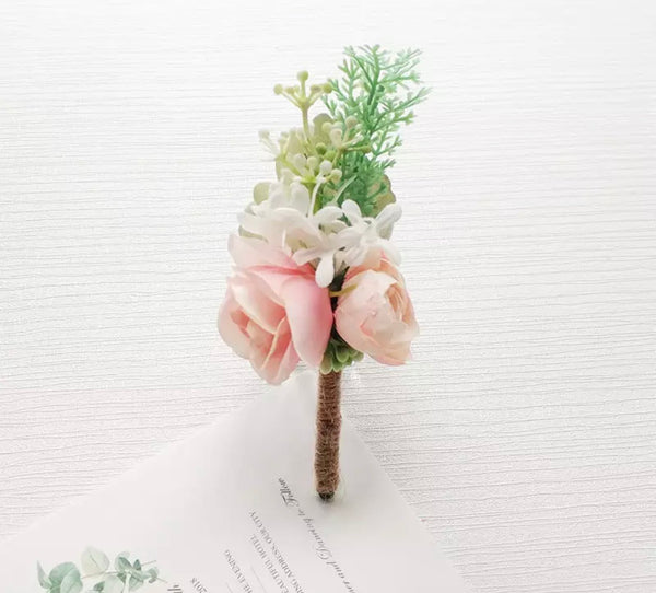 Pink or White ponies Buttonhole/ Boutonnières-All-Times-Gifts