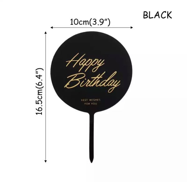 Acrylic Cake Topper Happy Birthday-Cake Topper-All-Times-Gifts