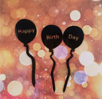 3pcs Set balloons Birthday Cake-Cake Topper-All-Times-Gifts