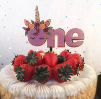 One Unicorn Cake Topper-All-Times-Gifts