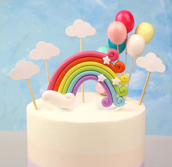 Rainbow Set Cake Topper-Cake Topper-All-Times-Gifts