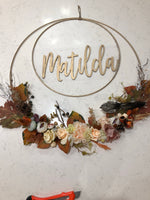 Double Golden Floral Hoop-Personalised Hoops-All-Times-Gifts
