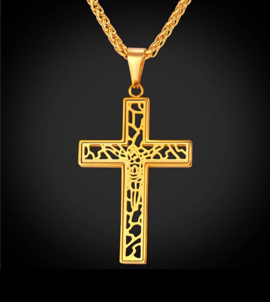 Cross Necklace Vintage Stainless Steel/Gold or silver Color-Jewellery-All-Times-Gifts