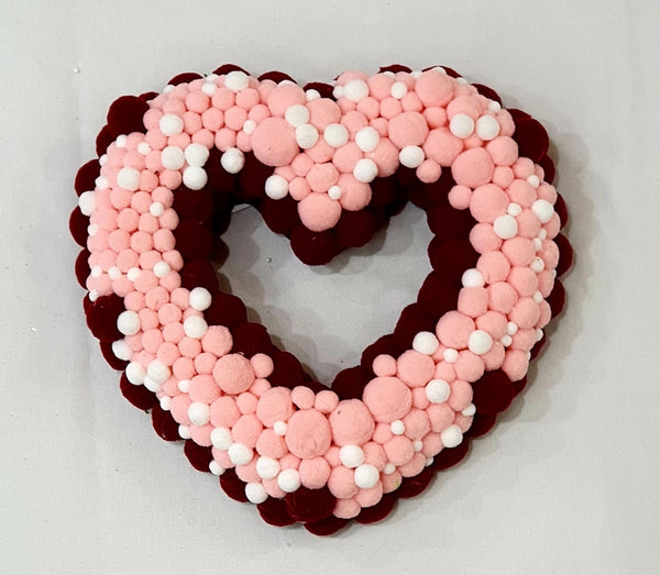 Felt pom-poms heart-All-Times-Gifts