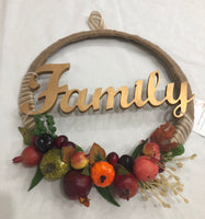 Family Golden Burlap Fruit Wreath-All-Times-Gifts